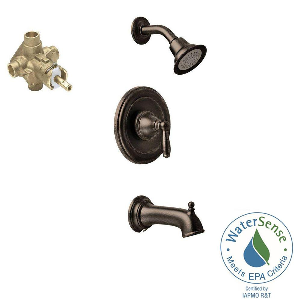 Brantford Single-Handle 1-Spray PosiTemp Tub and Shower Faucet Trim Kit with