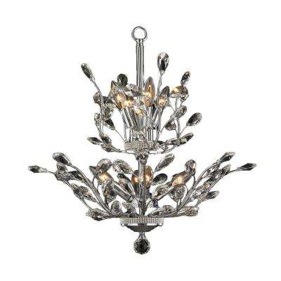 Aspen Collection 8-Light Chrome and Clear Crystal Chandelier