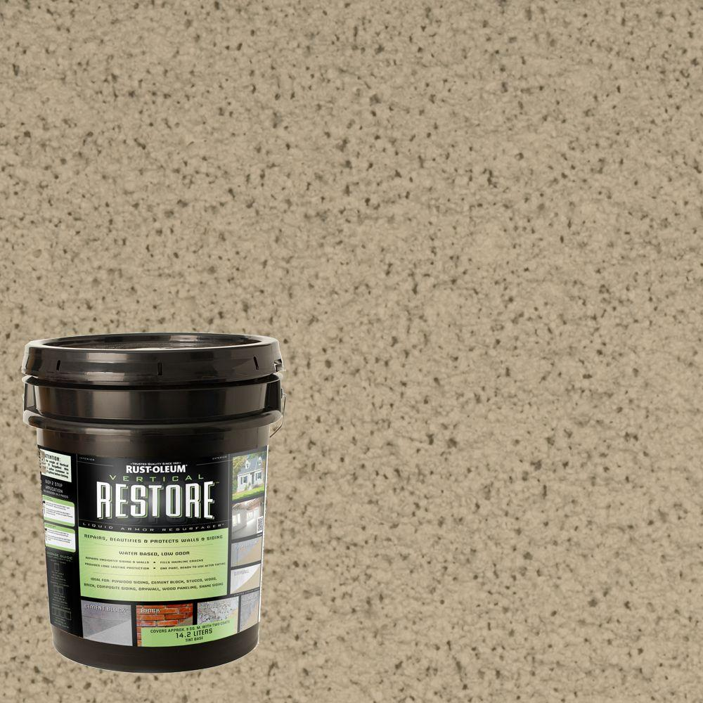 Rust-Oleum Restore 4-gal. Driftwood Vertical Liquid Armor Resurfacer for Walls and Siding