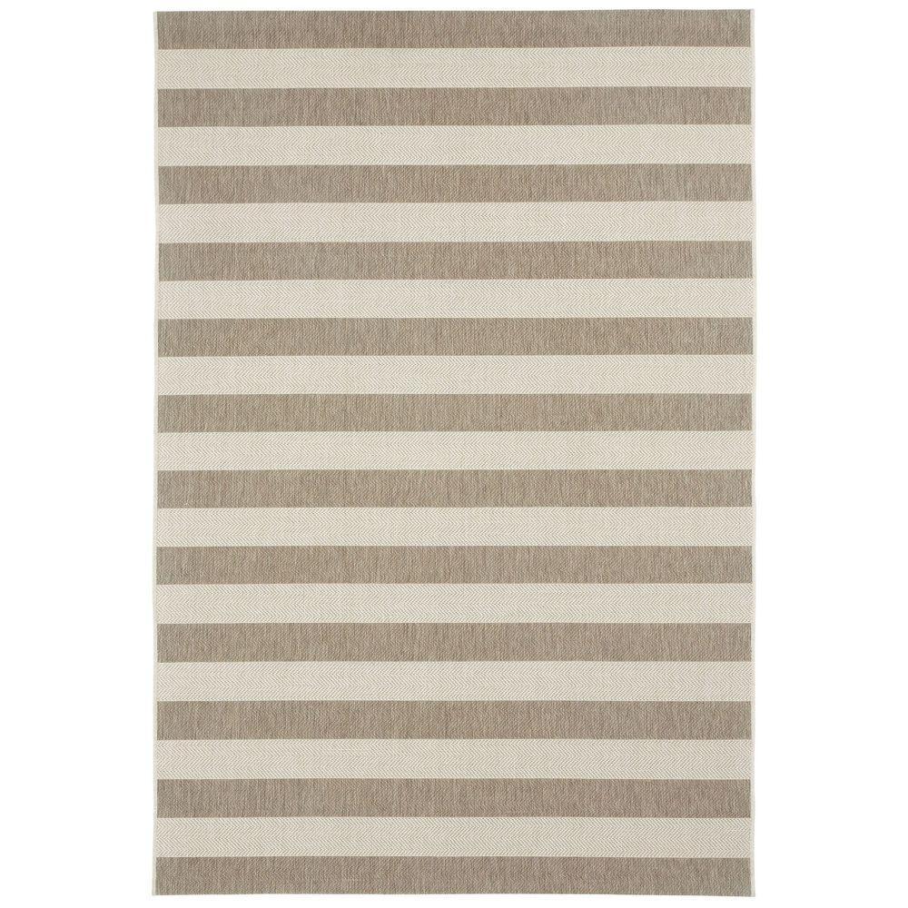 Capel Elsinore Stripe Wheat 5 Ft 3 In X 7 6 Area Rug