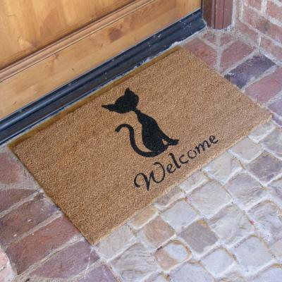 Meow Cat 18 in. x 30 in. Welcome Mat