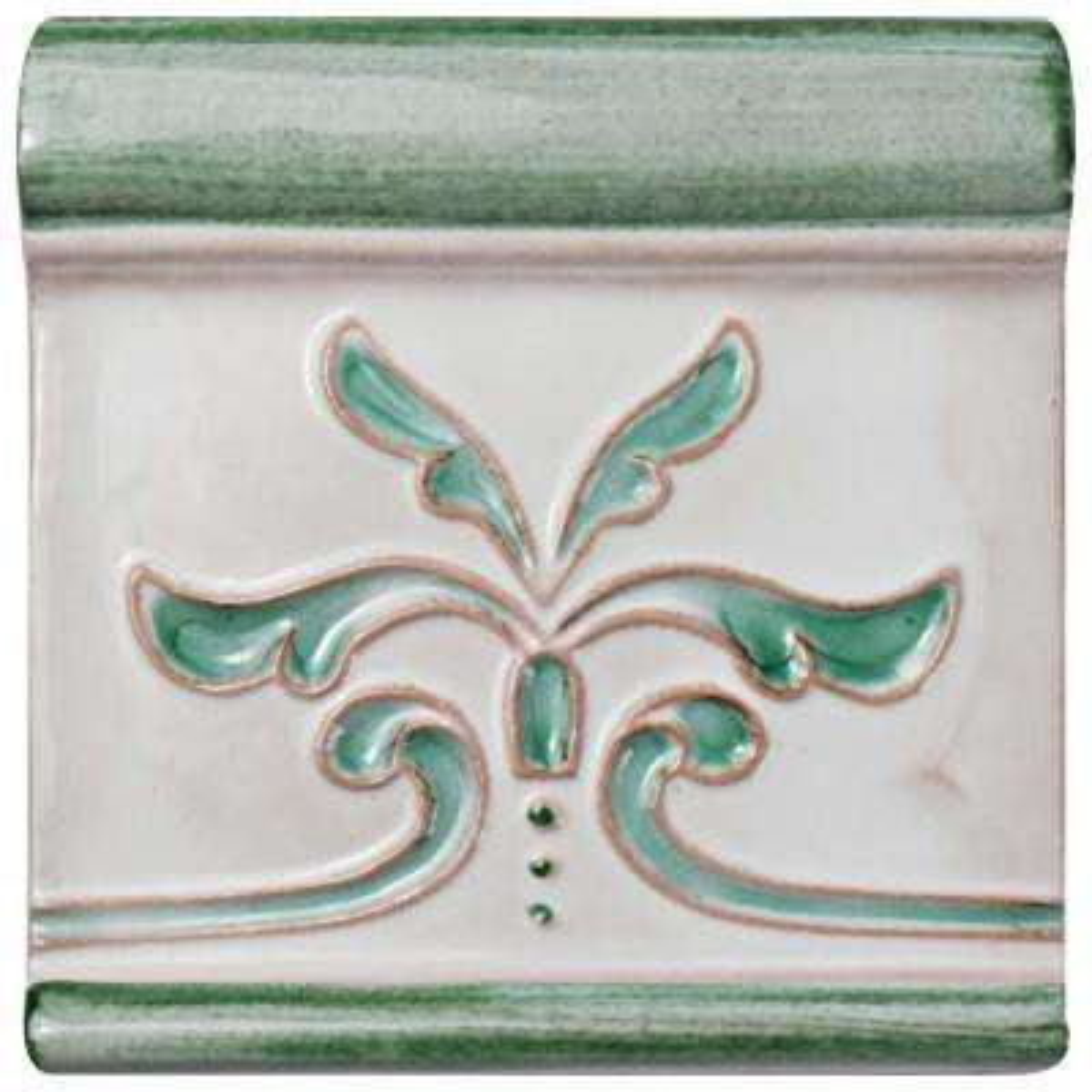 Novecento Friso Evoli Aguamarina 5-1/4 in. x 5-1/4 in. Ceramic Wall Trim Tile