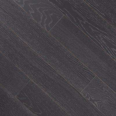 Wire Brushed Oak Teaberry 3/8 in. T x 5 in. W x Varying Length Click Lock Eng Hardwood Flooring (19.686 sq. ft. / case)