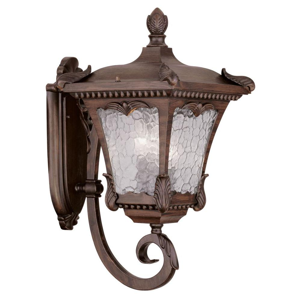 Livex Lighting Providence Wall-Mount 3-Light Outdoor Imperial Bronze Incandescent Lantern