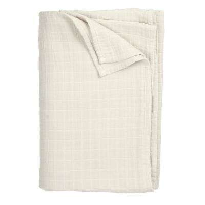 Gossamer Parchment Throw