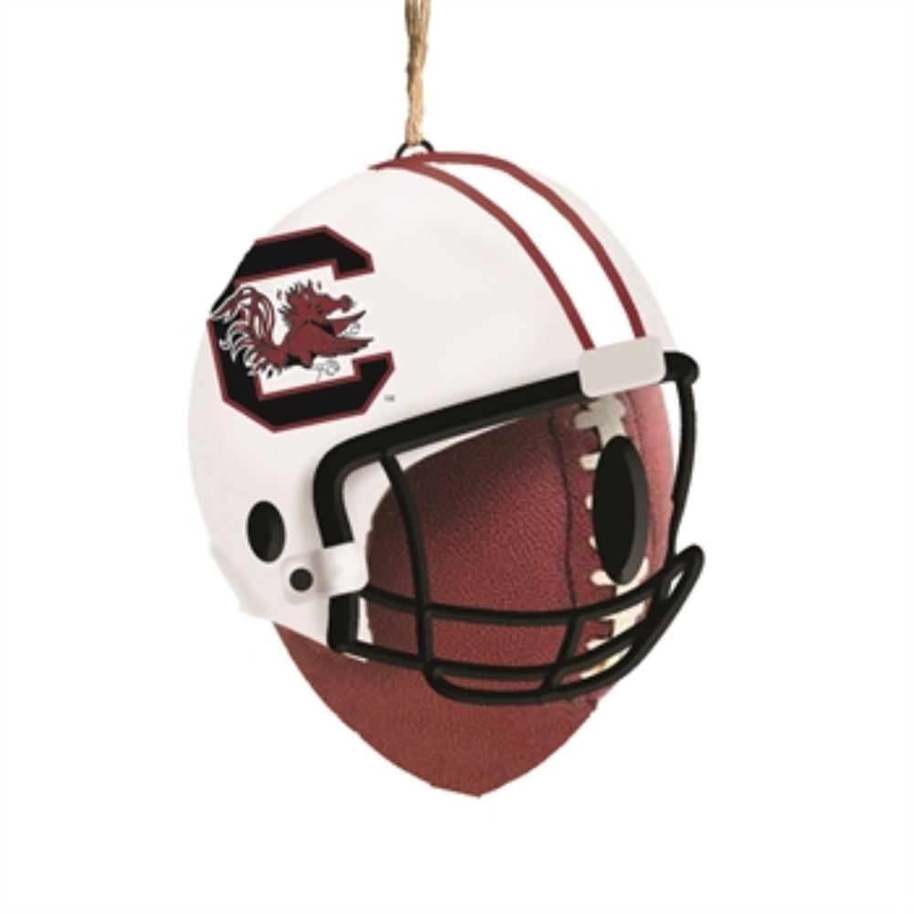 University of South Carolina 6.5 in. x 7.5 in. x 8 in. Polystone Hat/Helmet Ball Birdhouse