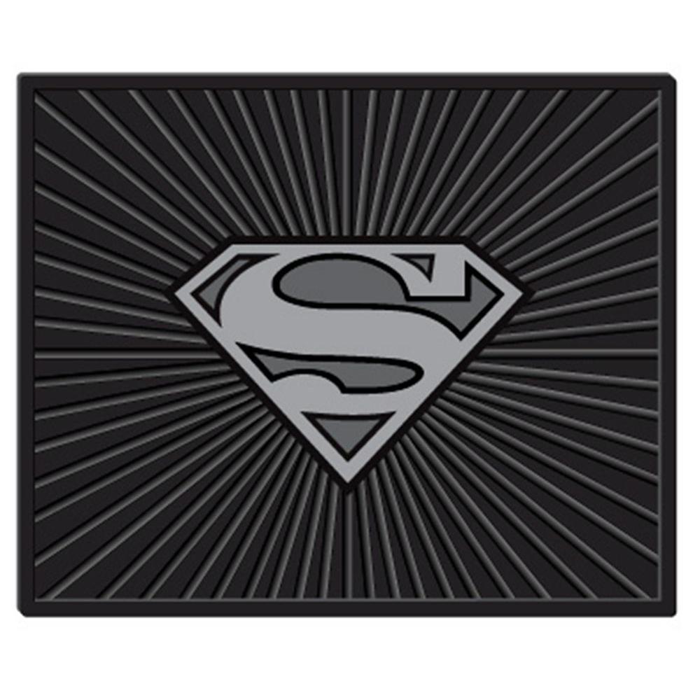 Warner Bros. Superman Silver Logo Heavy Duty 17 in. x 14 in. Vinyl Utility Car Mat