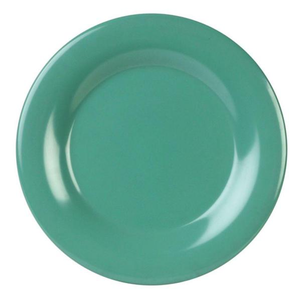 Restaurant Essentials Coleur 5-1/2 in. Wide Rim Plate in Green (12-Piece)