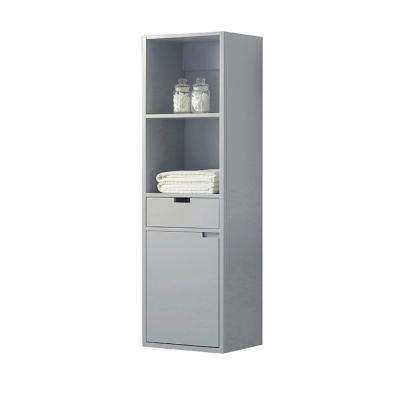 Urich 20 in. W x 64 in. H Linen Cabinet in Dove Grey