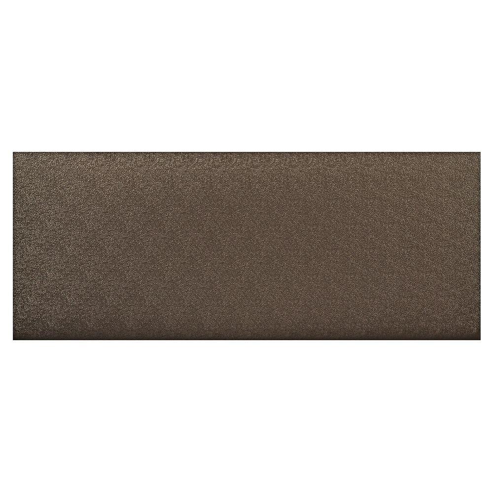 HomeTrax Designs Kitchen Comfort Black 20 in. x 36 in. Floor Mat
