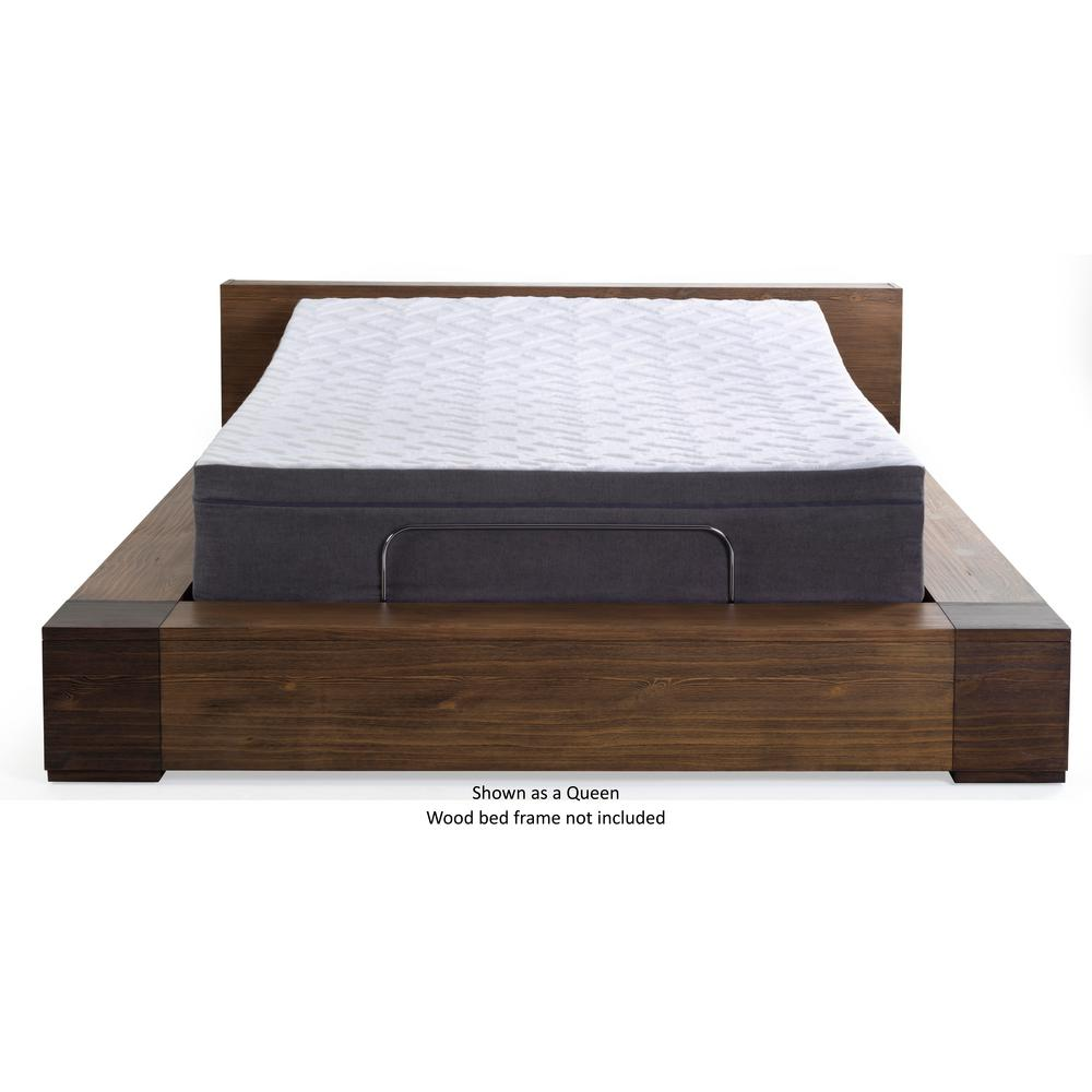 Blissful Nights Twin Long Memory Foam Mattressadjustable Base Set