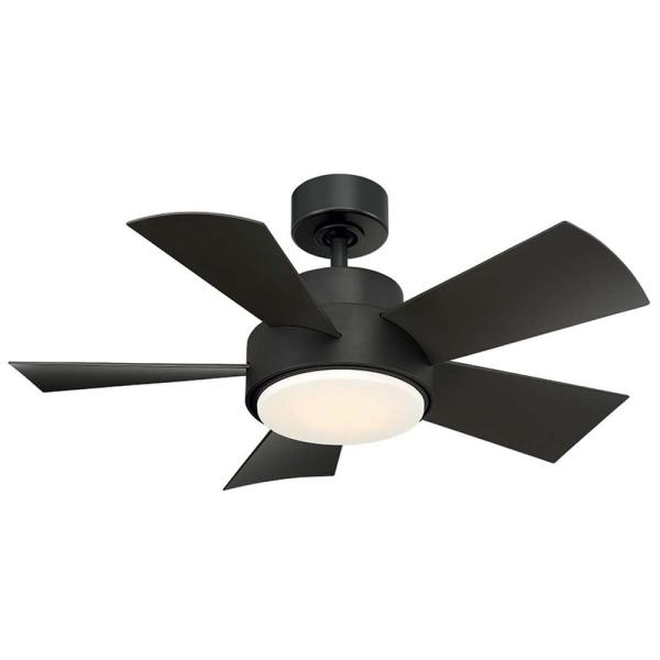 Modern Forms Elf 38 in. LED Indoor/Outdoor Bronze 5-Blade Smart Ceiling Fan with 3000K Light Kit and Wall Control