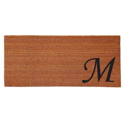 Monogram M Door Mat