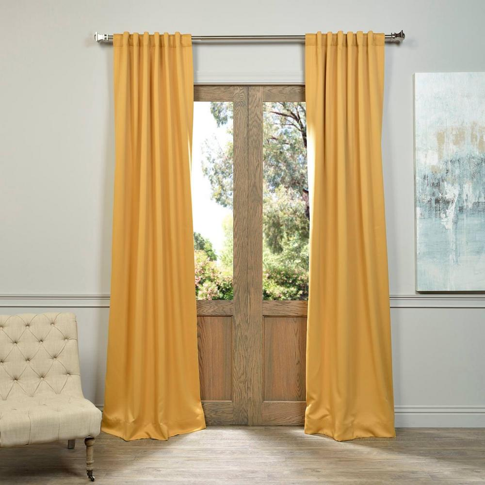 Mustard Yellow Kitchen Curtains: Exclusive Fabrics & Furnishings Semi-Opaque Marigold