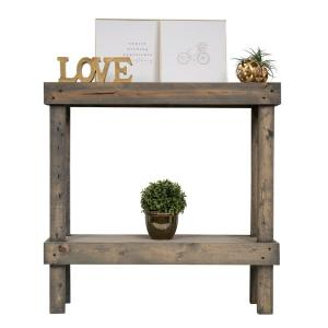 38 in. Gray Standard Rectangle Wood Console Table with Storage