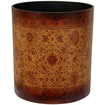 Oriental Furniture 10 in. x 11.5 in. Olde-Worlde Baroque Waste Basket