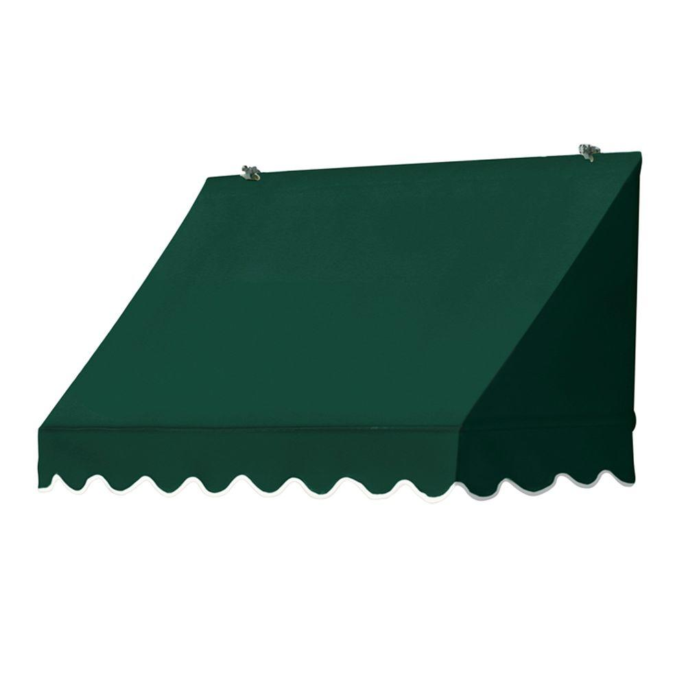 Awnings in a Box 4 ft. Traditional Manually Retractable Awning (26.5 in. Projection) in Forest Green
