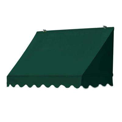 4 ft. Traditional Manually Retractable Awning (26.5 in. Projection) in Forest Green