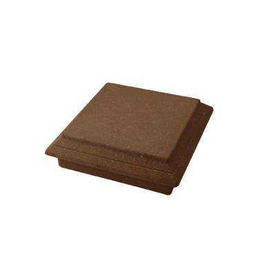 Vantage 5-1/2 in. x 5-1/2 in. Walnut Composite Beveled Post Cap