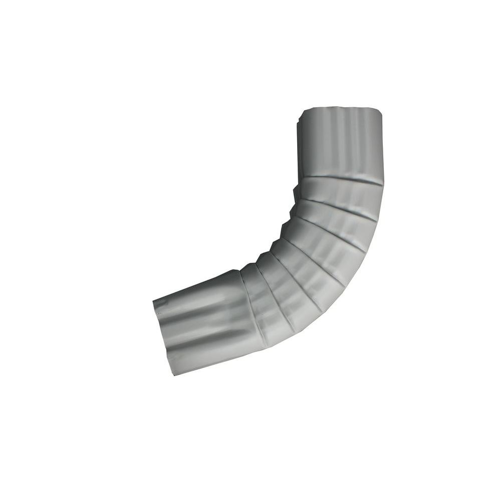 3 in. x 4 in. Colonial Gray Aluminum Downpipe - A
