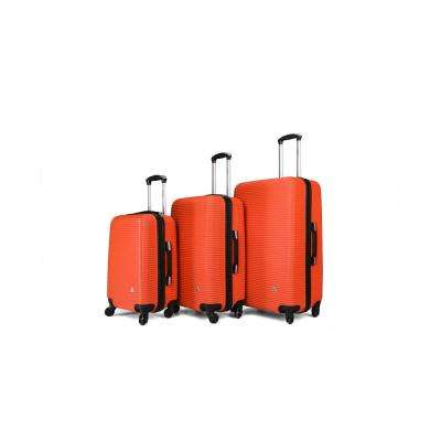 "Royal lightweight hardside spinner 3 piece Set 20"", 24"", 28"" Orange"