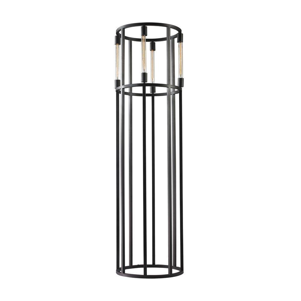 Cylinder Black Floor Lamp