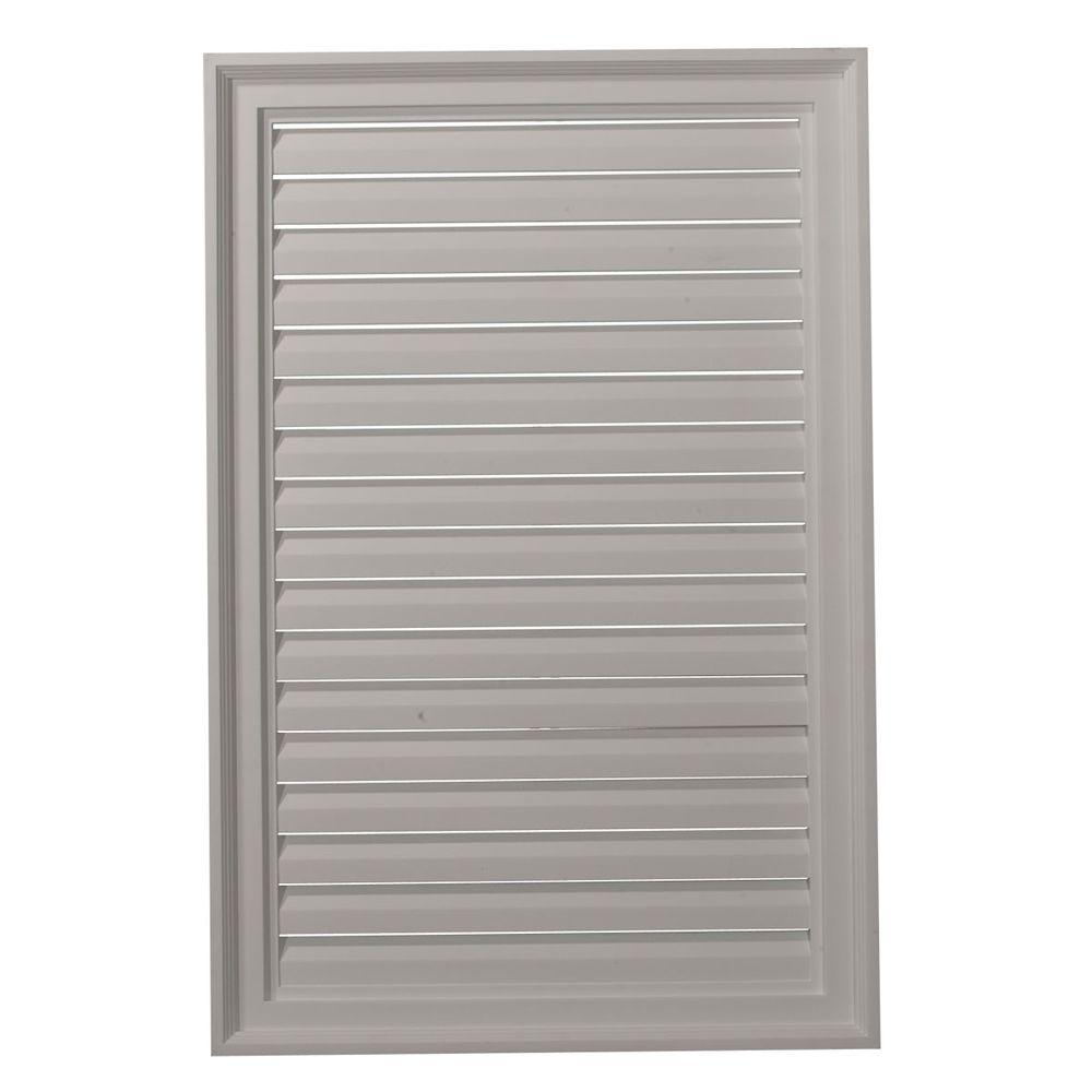 Ekena Millwork 2 in. x 24 in. x 36 in. Functional Vertical Gable Louver Vent