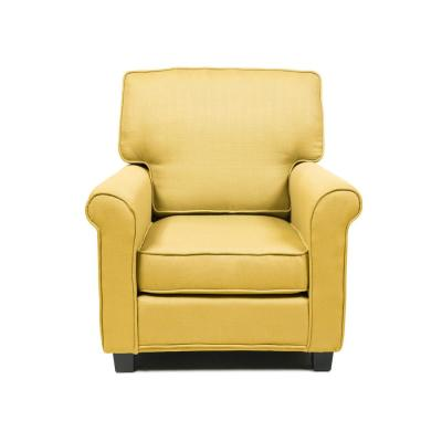Delphine Yellow Contemporary Padded Linen Arm Chair