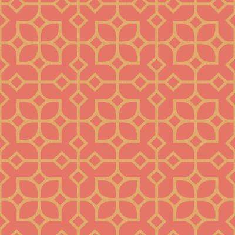 Maze Orange Tile Wallpaper