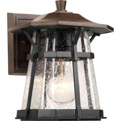 Derby Collection 1-Light Outdoor Espresso Wall Lantern