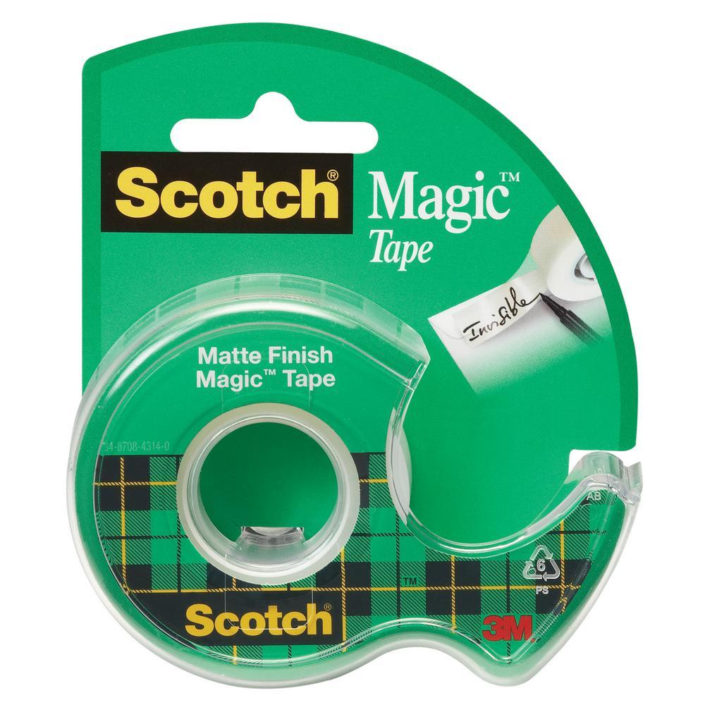 3m Scotch 75 In X 500 In Magic Tape With Dispenser Case Of 144