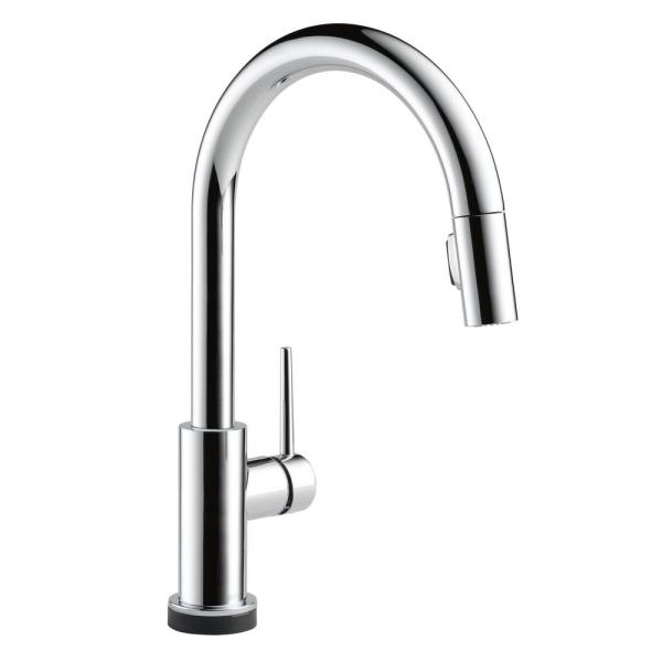 Trinsic Touch2O Single-Handle Pull-Down Sprayer Kitchen Faucet (Google Assistant, Alexa Compatible) in Chrome