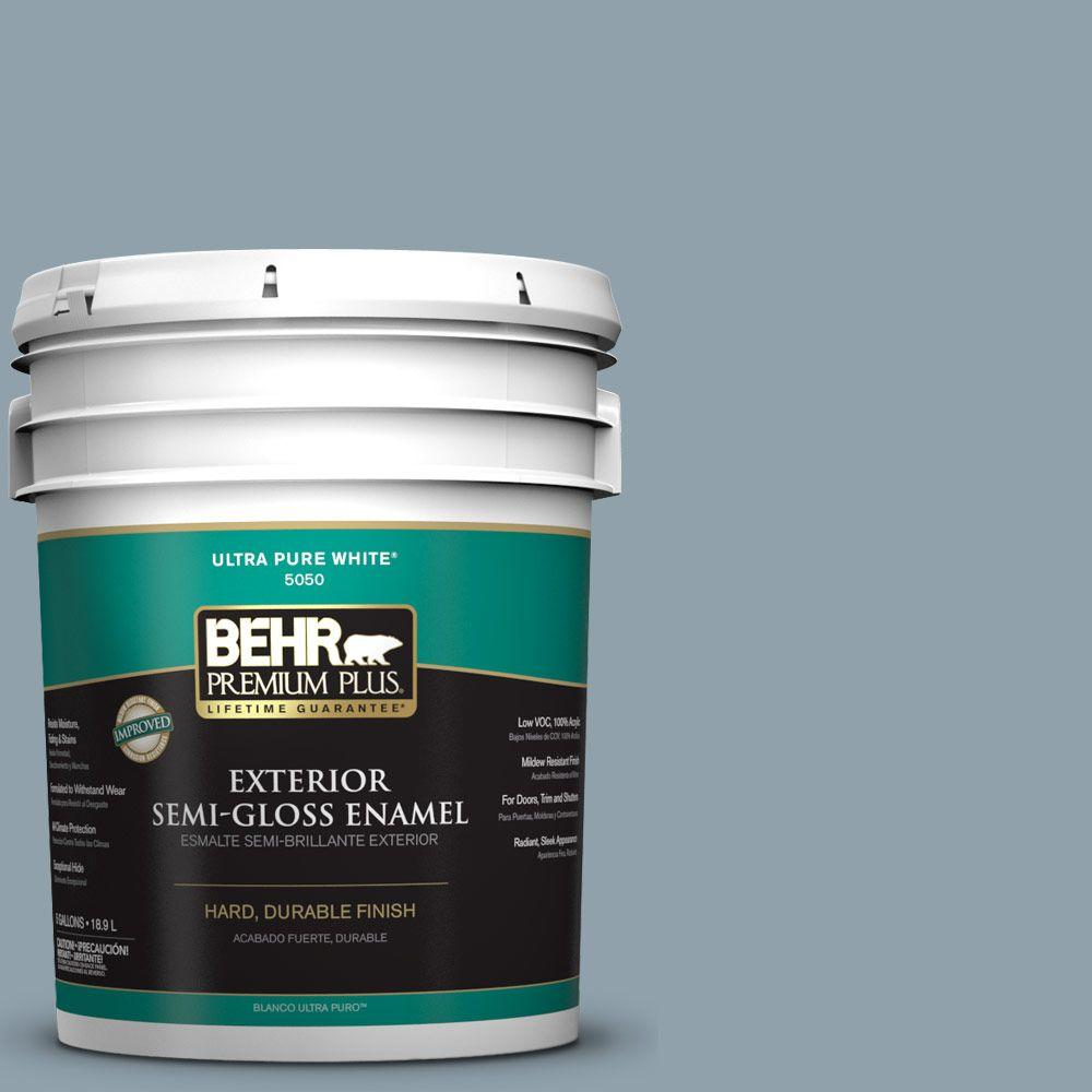5-gal. #N480-4 French Colony Semi-Gloss Enamel Exterior Paint