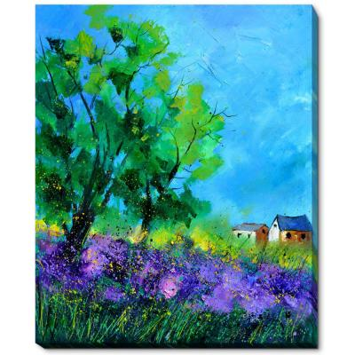 "18 in. x 22 in. ""Summer 561150 with Gallery Wrap"" by Pol Ledent Framed Canvas Wall Art"