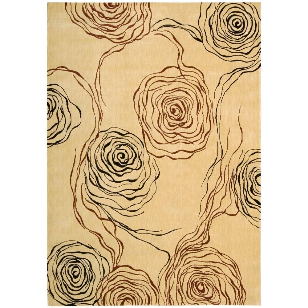 Nourison Overstock Parallels Ivory 3 Ft 6 In X 5 Ft 6