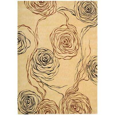 Parallels Ivory 3 ft. 6 in. x 5 ft. 6 in. Area Rug