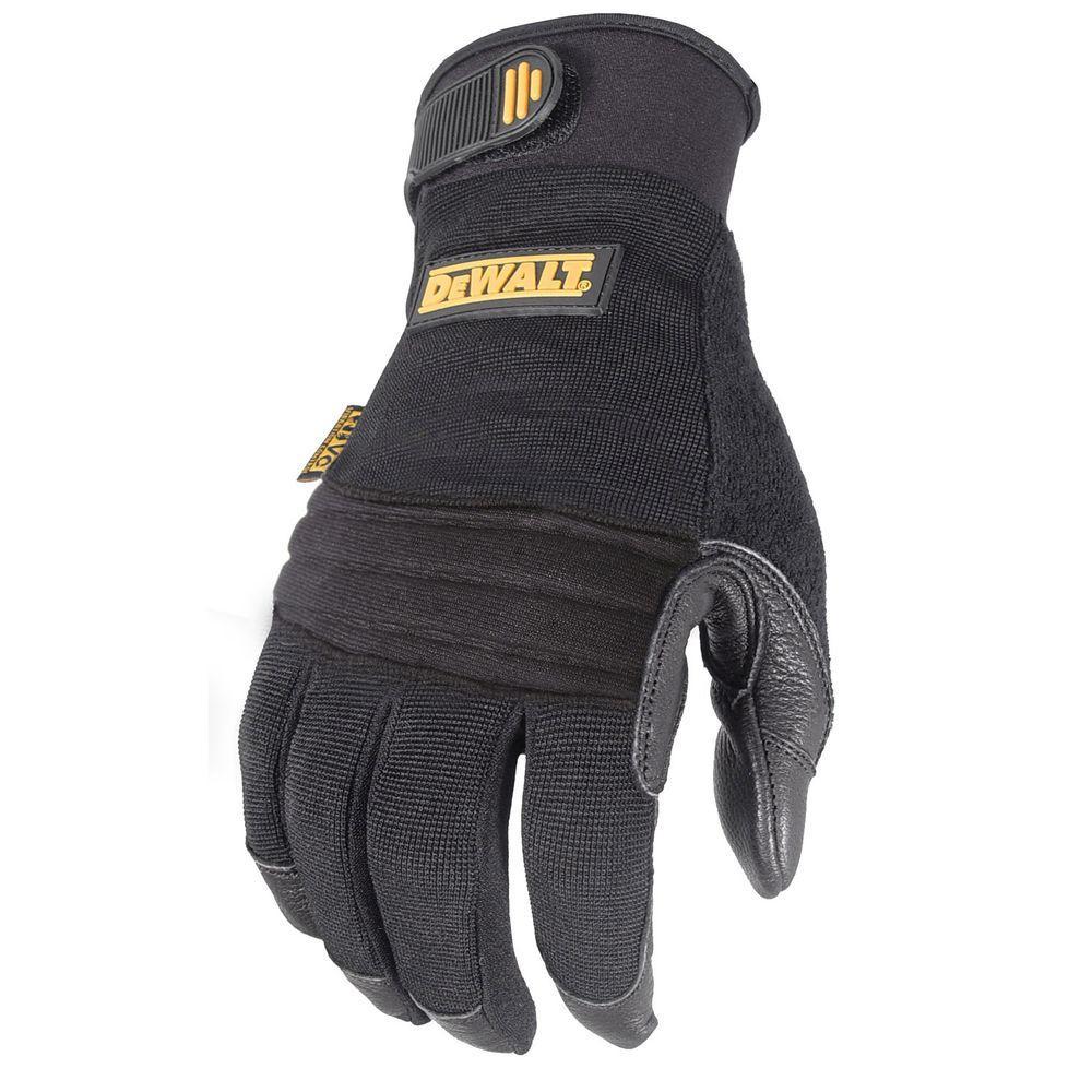 DEWALT Vibration Absorbing Goatskin Padded Palm Performance Work Glove - XL