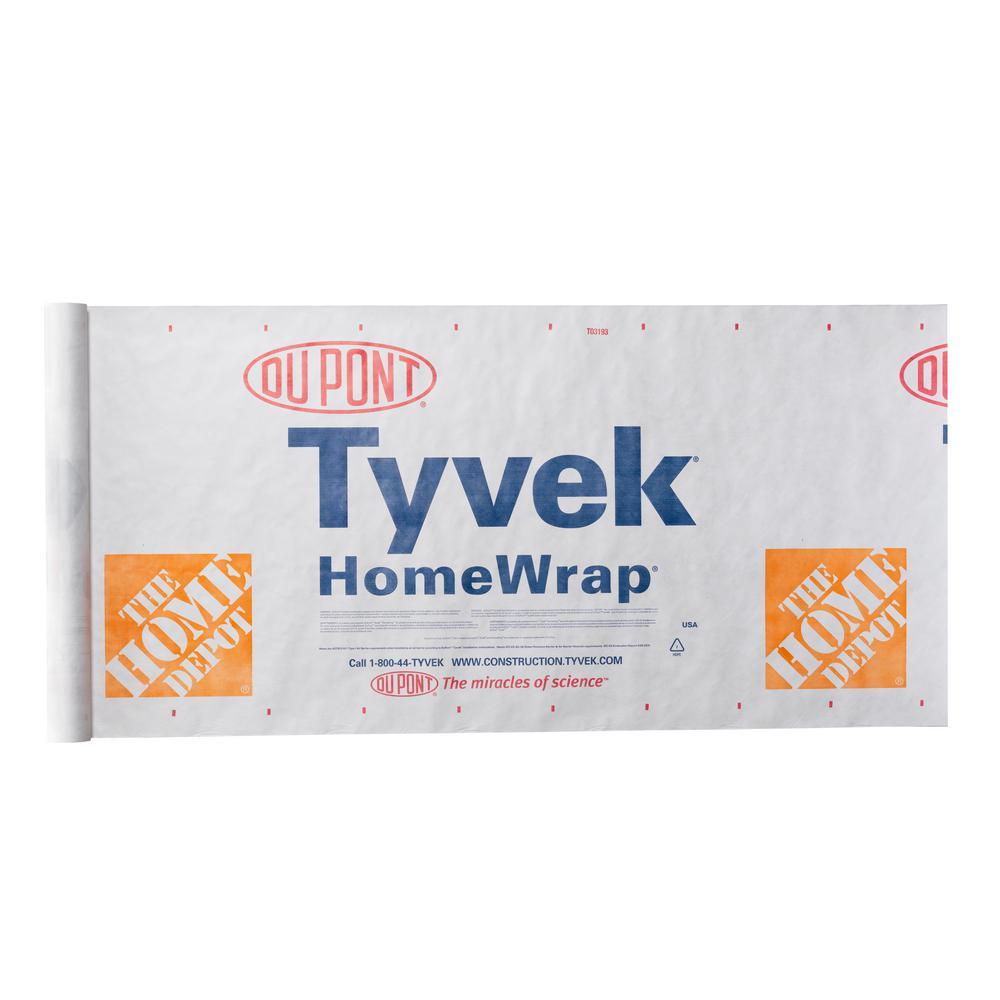 TYVEK HomeWrap 3 ft  x 165 ft  Roll Housewrap