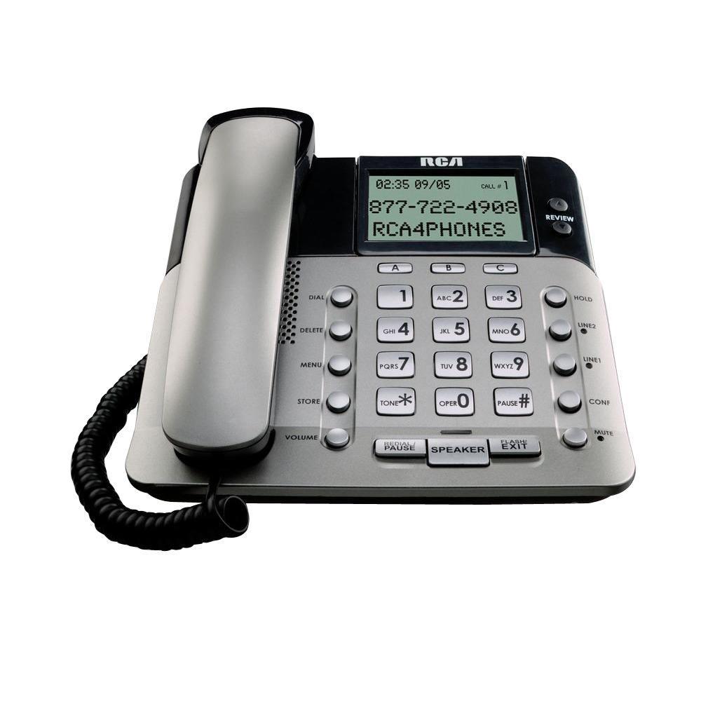 Desktop 2-Line Corded Speakerphone with Built-In Caller ID