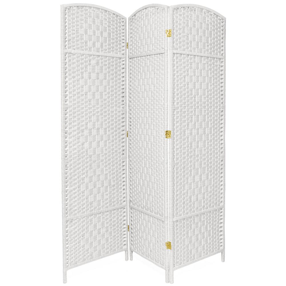 6 ft White 3 Panel Room Divider FBOPDMND3PWHT The Home Depot
