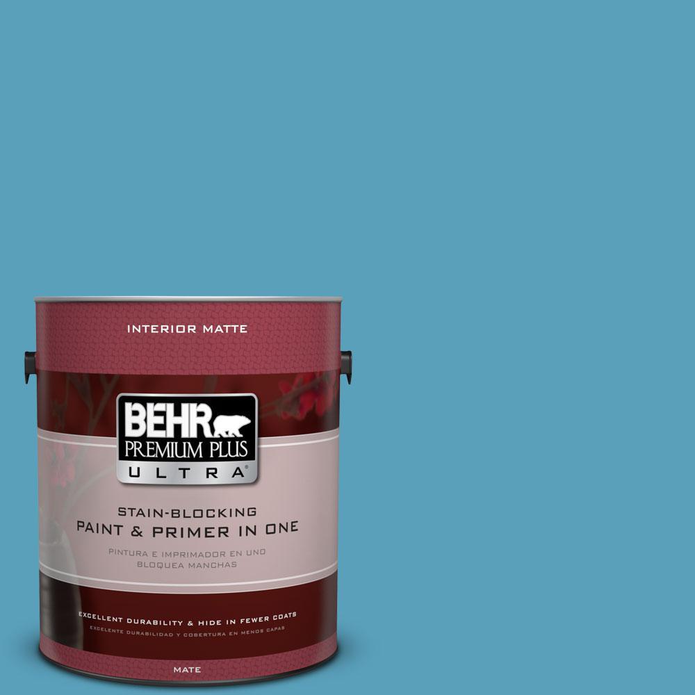 1 gal. #540D-5 Tropical Splash Matte Interior Paint and Primer in