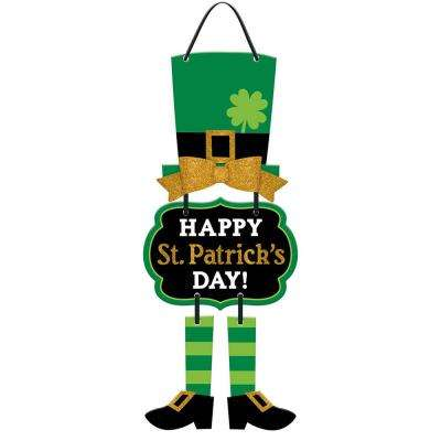 7 in. x 7.5 in. St. Patrick's Day MDF Leprechaun Stacked Sign (3-Pack)