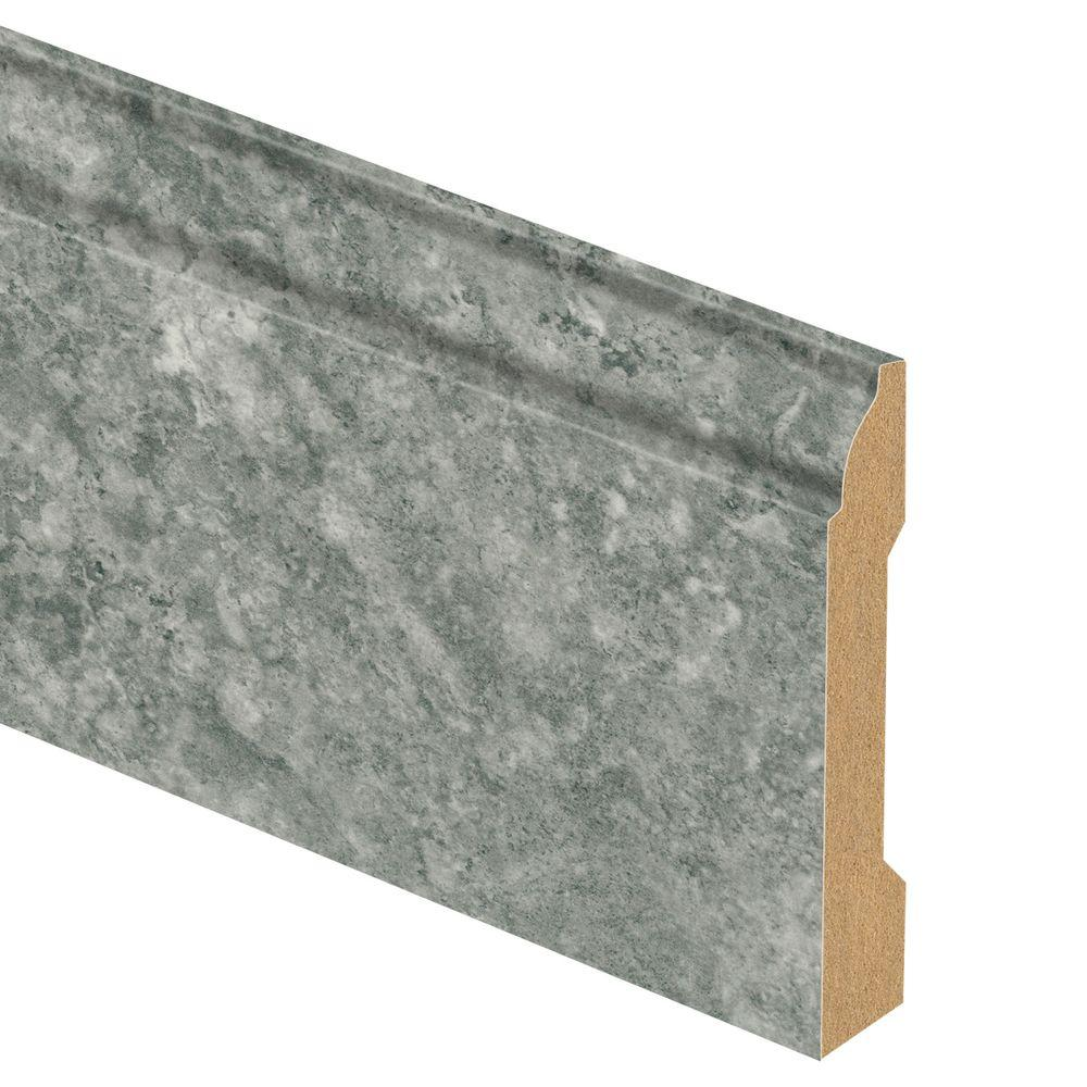 Zamma Lago Slate 9/16 in. Thick x 3-1/4 in. Wide x 94 in. Length Laminate Base Molding