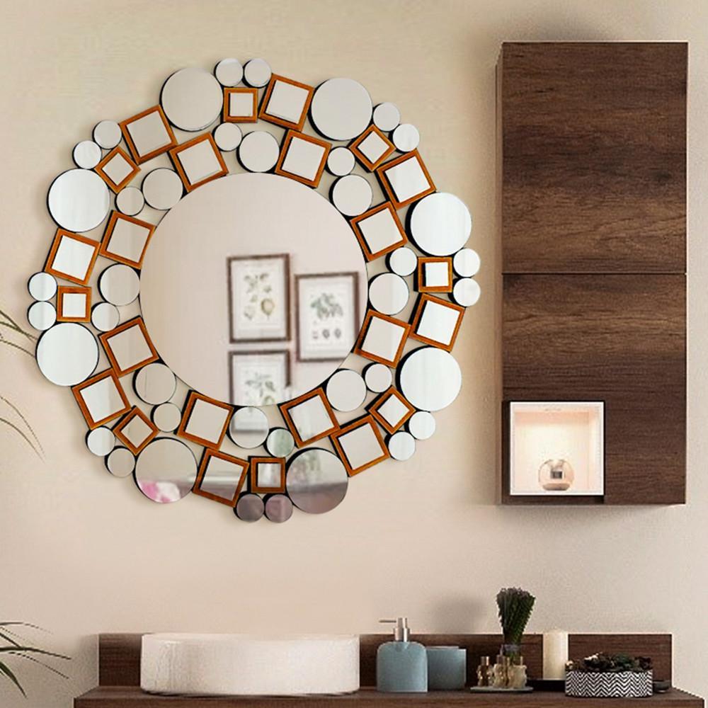 31.5 in. L x 31.5 in. W Handmade Modern Design Decorative Mosaic Mirror