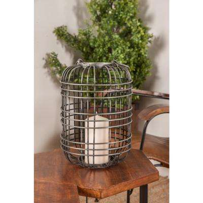 Gray Cage Design Candle Lantern
