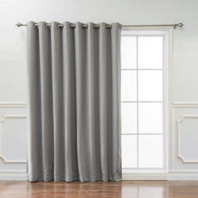 Wide Basic 100 in. W x 84 in. L  Blackout Curtain in Dove