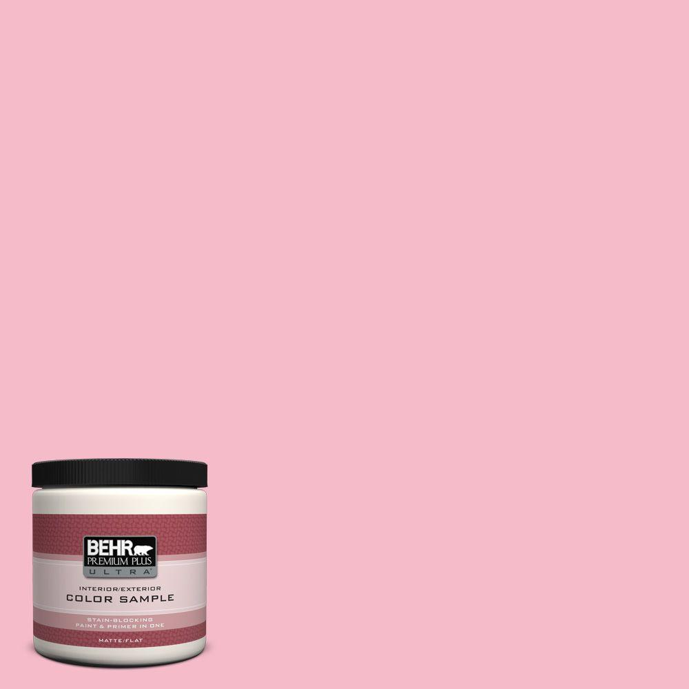 BEHR Premium Plus Ultra 8 oz. #120C-2 Pink Punch Interior/Exterior Paint Sample