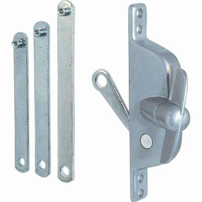 Jalousie Operator, Reversible, With Three Link Arms, Aluminum Finish