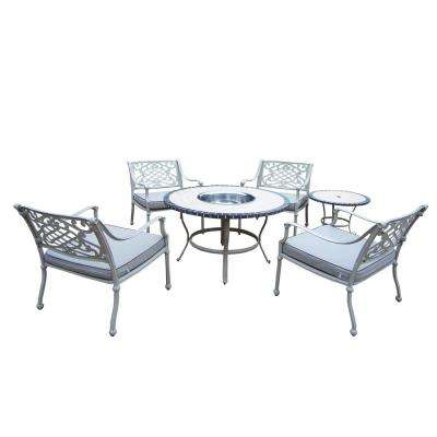 Fire Pit 4 5 Person Patio Dining Sets Patio Dining Furniture