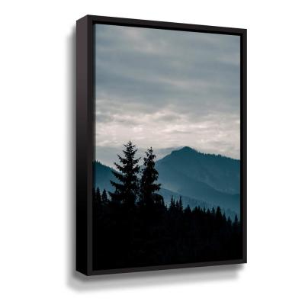 Blue Mountains VII' by  PhotoINC Studio Framed Canvas Wall Art